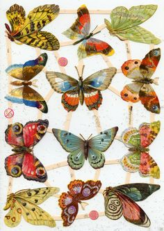 SCRAP RELIEFS Glittered Butterflies par OneDayLongAgo sur Etsy