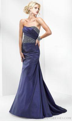 Exciting A-line Strapless Floor-length Taffeta Evening Dresses