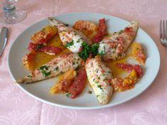 Filetti di gallinella all'arancia