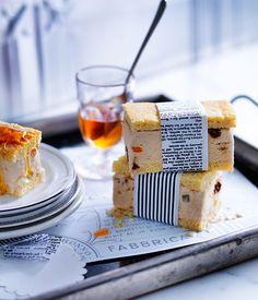 Burnt-honey and ricotta gelato slice recipe | Gelato recipe :: Gourmet Traveller