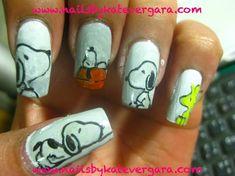 snoopy by katevergara - Nail Art Gallery nailartgallery.nailsmag.com by Nails Magazine www.nailsmag.com #nailart