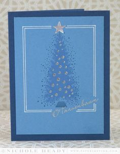 O'Tannenbaum Card by Nichole Heady for Papertrey Ink (September 2014)
