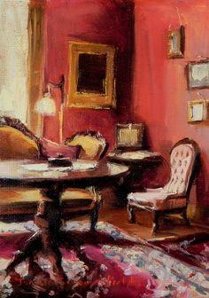 Jonelle Summerfield Oil Paintings: Victorian Interior