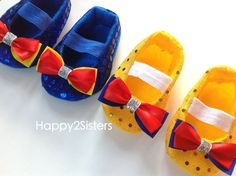 Baby Shoes Snow white baby Shoes Baby Girl Shoes by Happy2sisters