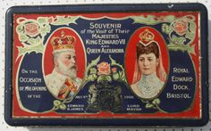 1908 King Edward VII and Queen Alexandra Opening of by Tinternet King Edward Vii, Vintage Tins, Coat Of Arms, Bristol, My Images, Art Nouveau, Lord, Queen, Antiques