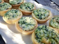 Mini Spinach & Ricotta Tarts are a tasty mini tart that everyone will love at your next party… made even more special if you make your own ricotta cheese.