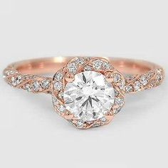 14K Rose Gold Cordoba Diamond Ring
