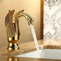 Robinet de lavabo en conception centerset salle de bains (Ti-PVD finition)