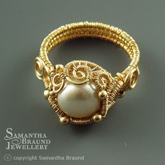 Siren Ring by Samantha_Braund, via Flickr (Gold and Pearl)