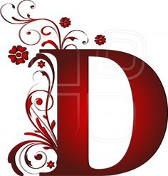 capital letter D red, abstract, alphabet, alphabetic