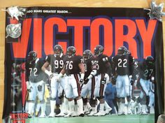 CHICAGO BEARS GREATEST SEASON VICTORY POSTER 1985