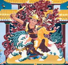 The emanation of Manjushri in the form of a Dharma Protector