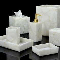 Mike And Ally Taj Bath Accessories Milk White Quartz