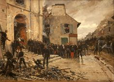 The surrender of the French army at Auberge, Franco-Prussian War