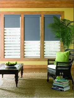 Illusions ® with the Sundown Option harmoniously blends beauty with privacy. As the sun rises and falls, your transitional shades can transform from light filtering to total room darkening.