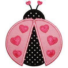 Lady Love Bug Applique