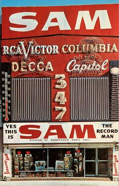 Sam the Record Man, Toronto ON ~ one of the greatest places to buy records, that's vinyl for you young folks!