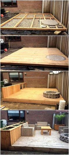 Plans of Woodworking Diy Projects - wood pallet terrace ideas 7 Get A Lifetime Of Project Ideas & Inspiration! Diy Pallet Projects, Backyard Projects, Outdoor Projects, Backyard Patio, Backyard Landscaping, Home Projects, Pallet Ideas, Backyard Ideas, Pergola Ideas