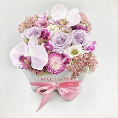 Flower Box With Orchids