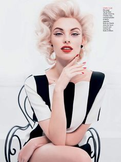 Dioni Tabbers - Some Like It Hot - Hong Kong Tatler 2013 Iakovos Kalaitzakis  www.iakovos.co.uk via asiatatler.com  for #makeup