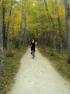 Rent a bike from Nor Door Sport & Cyclery in Fish Creek and bike through the Peninsula State Park all the way to the Eagle Tower overlooking Eagle Harbor.