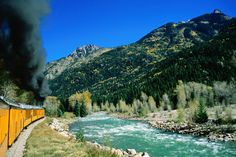 Animas River at Durango and Silverton Narrow Gauge Railway, in San Juan County.  Take a train ride!  6.5 hours.