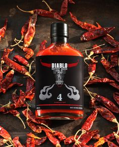 Diablo Hottest Sauce designed by View Point Branding Agency (Russia)
