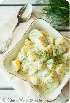Kartoffeln in Dill-Sahnesauce lecker zu Fisch