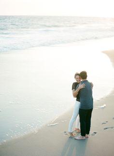 california beach engagement