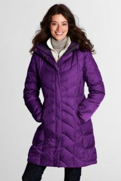 Women's f(x)™ Down Coat from Lands' End -- comes in regular, tall, petite, and plus, is lands end quality -- and on sale