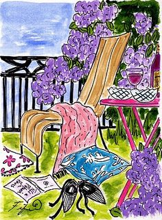 Reading with Wine in the back yard....did this, cant wait to do it again!