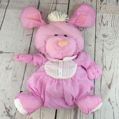 1986 FP PUFFALUMP DOG Plush Puppy Pink White Stuffed Animal Vintage Toy 1980s #FisherPrice