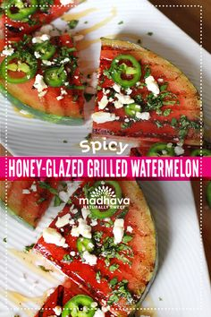 Spicy Honey-Glazed Grilled Watermelon with Jalapeño and Feta | Madhava