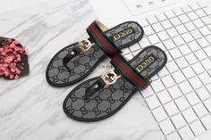 5c87824d0ed7b8 Sandals and Flip Flops 62107  New Gucci Women S Gg Logo Sandals Black Us  Size 6 -  BUY IT NOW ONLY   65 on eBay!