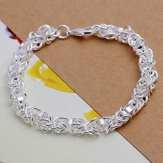 2014 New Arrivel Free Shipping Silver plated Cuff Chain Charm Leading shrimp buckle Bracelet Jewelry Bracelet SMTH073