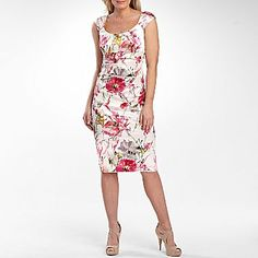 London Style Nights Allover Satin Print Sheath - jcpenney