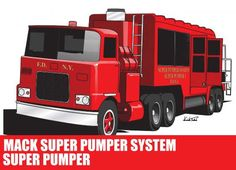 Mack Super Pumper System Fire Engine Free Vehicle Paper Model Download