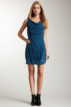 I love the slouchy draping of it all and the see-through hem line.