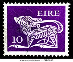 Ireland - Circa 1968: A Stamp Printed In Ireland Shows A Dog From ...