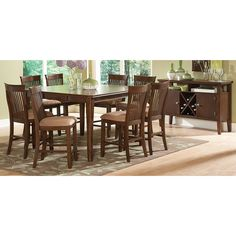 7 Pc Jonas Collection Country Style Rustic Brown Finish Wood Counter Height Dining  Table Set | Dining Tables | Pinterest | Wood Counter, Brown Finish And ...