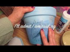 How to Decoupage napkins without wrinkles - YouTube