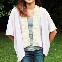Here is an easy project you can make, customize, and wear. Its the perfect light cover up for a summers day.