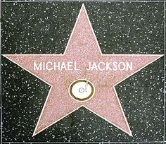 See the Michael Jackson Hollywood walk of fame star.
