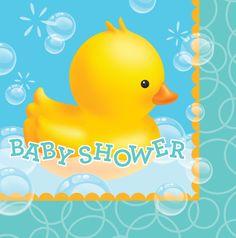 Baby Shower Bubble Bath Luncheon Napkins