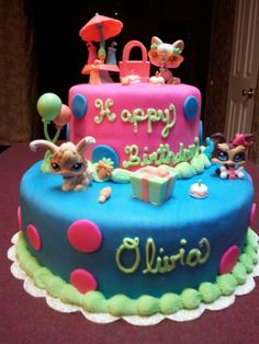 littlest pet shop cake ideas | fondant littlest pet shop - specialty cakes