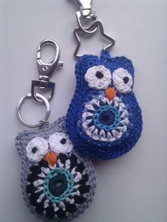 Owls - she has a ton of other adorable keychain examples, too