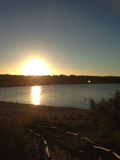 Sunset over Son Park beach in Menorca