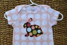 Polka Dot Bunny - This would be a cute onesie for your baby to wear on Easter, only $10.85!