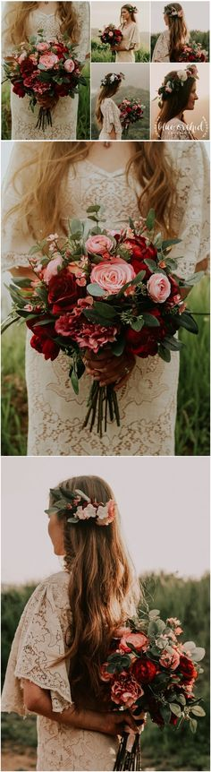 wedding bouquet, wedding flowers, boho bouquet, bridal bouquet, pink, red, ,burgundy, eucalyptus, wedding flower set, destination wedding #weddings #weddingflowers#weddingideas #weddingbouquets