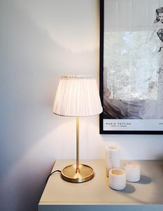Watt & Veke lampstand and Tine K lampshade. Table Lamp, Lighting, Home Decor, Table Lamps, Decoration Home, Room Decor, Lights, Home Interior Design, Lightning